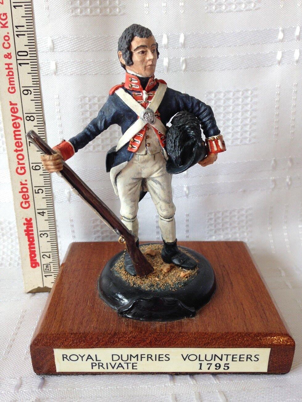 ROYAL DUMFRIES VOLUNTEERS PRIVATE - 1795. 95mm Die-Cast Figure. FREE UK POSTAGE.