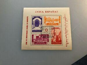 ESPANA-1937-HOJITA-MARRUECOS-EN-USADO-EDIFIL-168-MATASELLOS-TETUAN
