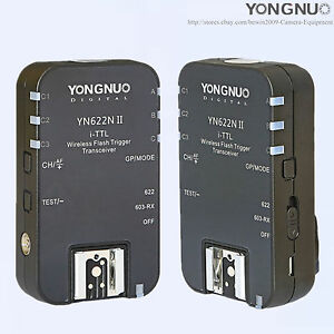 YONGNUO YN-622NII Wireless TTL Flash Trigger For Nikon SB900 D5100 D80 D90 D3