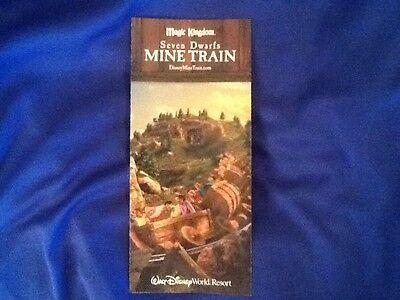 Walt Disney World Magic Kingdom Seven Dwarfs Mine Train Ride Brochure Map  RARE