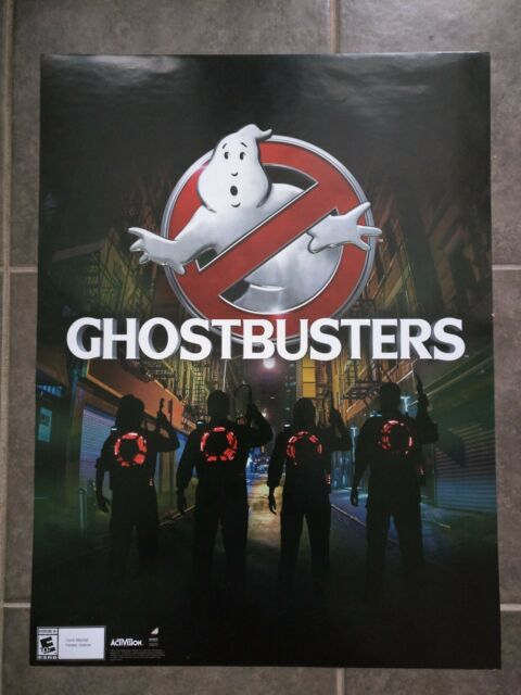activision poster  ACTIVISION GHOSTBUSTERS original promo poster 24x36 DOUBLE-SIDED ...