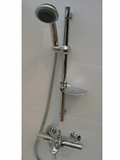 WALL THERMOSTATIC BATH SHOWER MIXER TAPS, TOP OUTLET, HANDHELD & RAIL, 354/013A