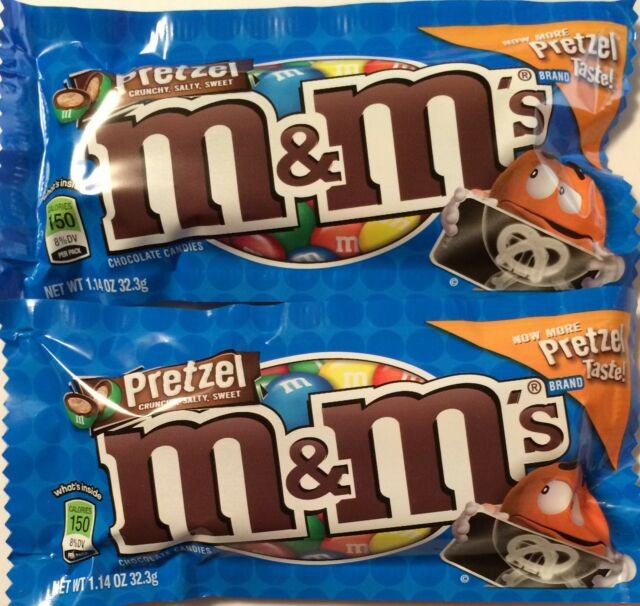 M&M's with PRETZELS and MILK CHOCOLATE - 24 1.14oz (32.3g) Bags
