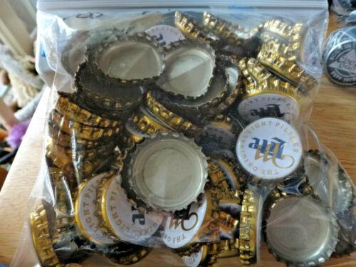 100 Miller Lite Light BEER White Blue Gold BOTTLE CAPS for Crafters