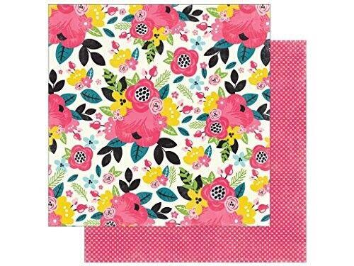 Summer Floral 2pc Scrapbook Paper Echo Park 12x12 Summer Fun