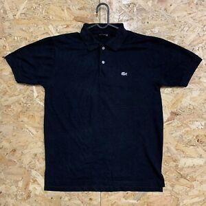 Vintage-Lacoste-Polo-Mens-Black-Short-Sleeve-Cotton-Shirt-Size-4-Medium-M