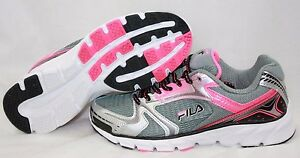 537de3060f6d NEW Youth Girls Kids FILA Approach Grey Pink Black White Running ...