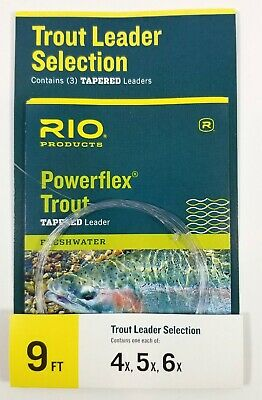 """Sizes 3X 2 Packs 4X 6X. Scientific Anglers 9/"""" tapered leaders 5X"""