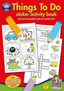 Orchard-Toys-THINGS-TO-DO-Kids-Children-039-s-Educational-Sticker-Colouring-Book-BN