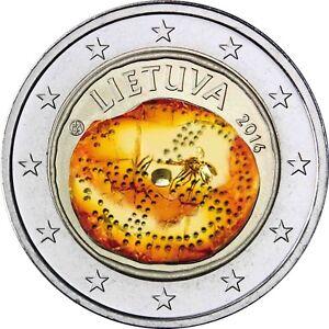 Litauen 2 Euro Münze 2016 Bfr Gedenkmünze Baltische Kultur In Kapsel
