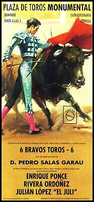 "Plaza De Toros Monumental Barcelona #24 Canvas Art Poster 12/""x 24 Bullfighting"
