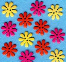 Pink Yellow Peach Summer Sewing Dress It Up Craft Buttons ISLAND SUNSET STARS