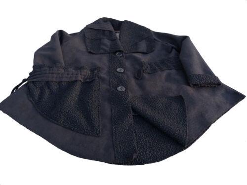 daim de optique de Xl L Xxl aspect veste veste peau mouton optique noir manteau luxe d'hiver CO8WqWdvc