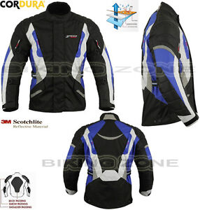 BLU-SPEED-MAX-uomo-resistente-invernali-CE-moto-Moto-Tessuto-copertura