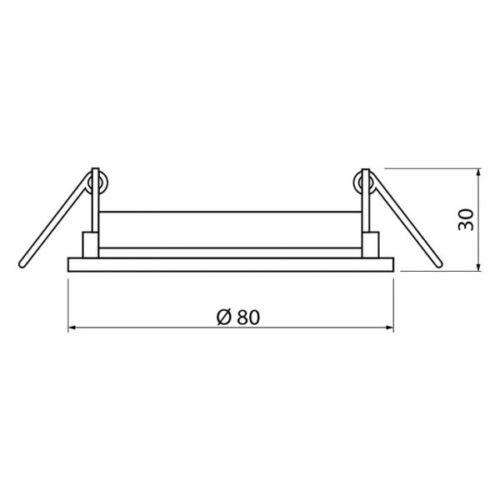 Einbaurahmen für GU10 MR16 Einbauringe Decken-Spots Rahmen Rund chrom PARMA 4195
