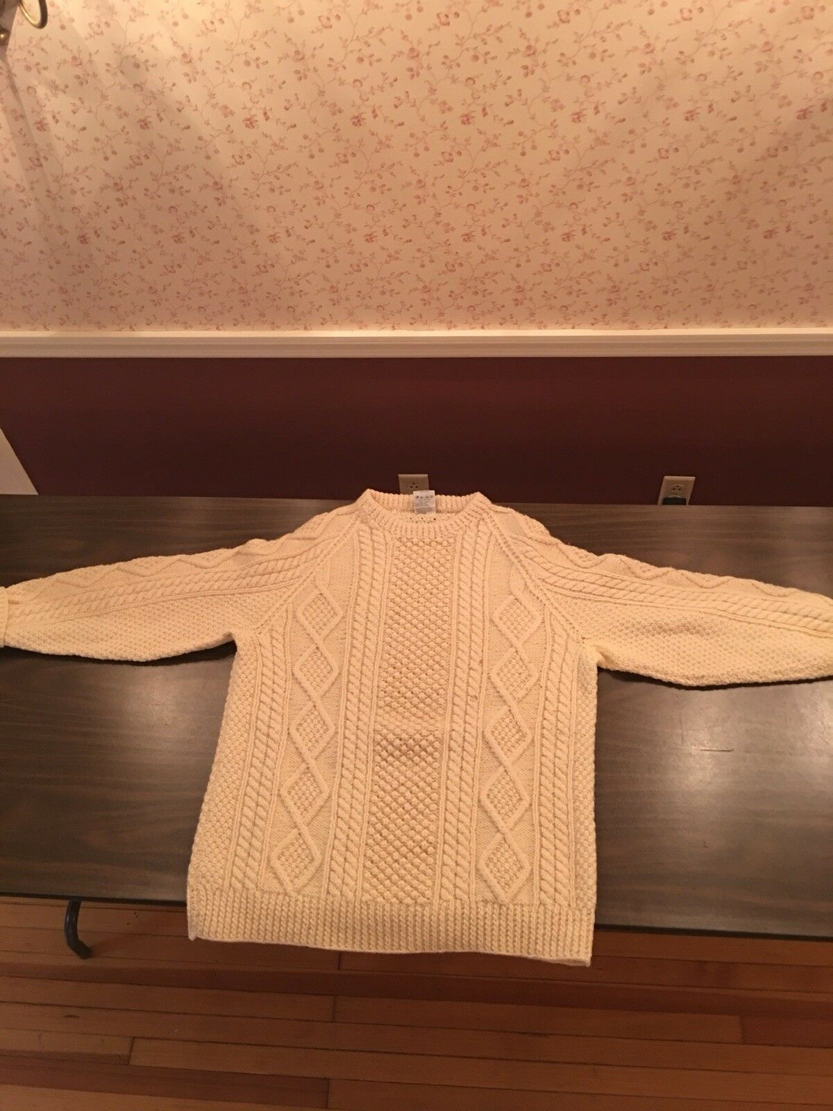 Authentic Handknit Irish Fisherman Sweater