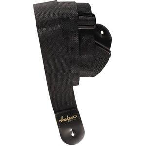 Jackson-2-034-Polyweb-Nylon-Adjustable-Electric-Guitar-Strap-Black-w-Logo