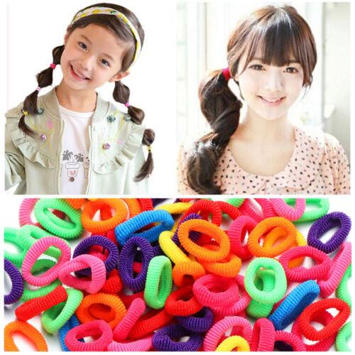 Women Girl Hair Band Ties Elastic Rope Ring Hairband Ponytail Holder 100Pcs
