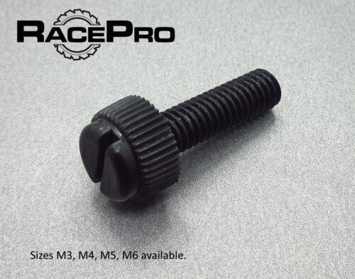 M6 20mm Thumb Screw Tough Nylon Plastic 15x Black Thumbscrews RacePro