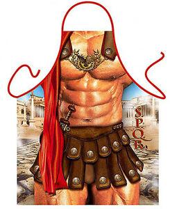 Kitchen Aprons Kitchen Textiles The Gladiator man kitchen apron dad gag gifts BBQ party Polyester one size ITATI