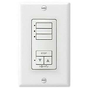 Somfy DecoFlex WireFree RTS Wall Switch, 3 Channel, Weiß (1811071)