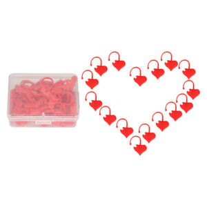 40//50Pcs Stitch Markers Knitting Tool Plastic Hearts Holder Crochet Locking