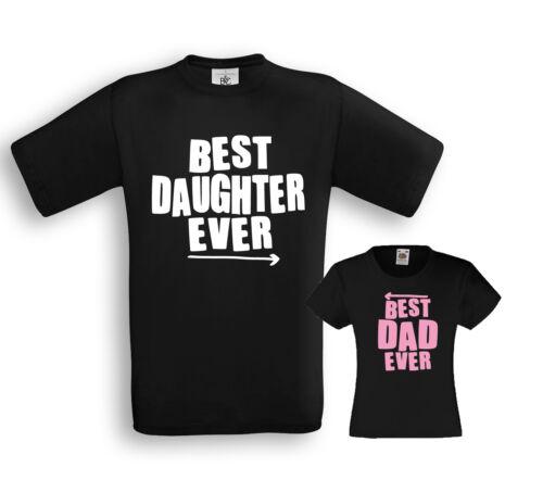Best Dad//Daughter ever-padre//figlia partner shirts-Papà Famiglia figlia