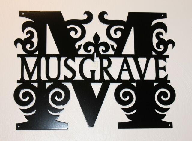 Split Letter Monogram Door Hanger Metal Wall Art Personalized W Name And Initial Ebay