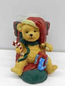 Christmas-Holiday-Snowman-amp-Teddy-Bear-Snow-Trees-Votive-Candle-Holder
