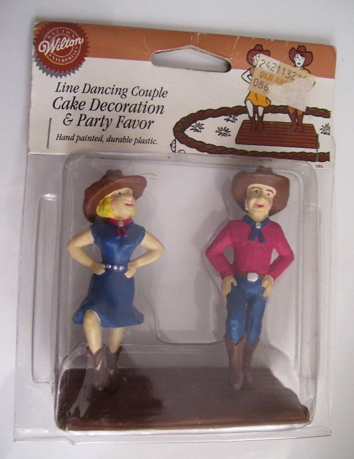 RARE Wilton Cake Topper Pays Western thème Line Dancing Couple COW-BOYS 1995
