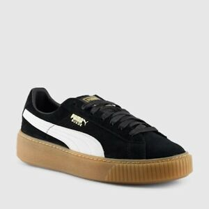 19ca253abfd3 Puma Suede Women s Core Lace Up Platform Sneakers NEW AUTHENTIC ...