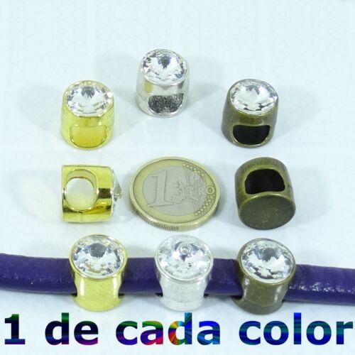 4 Abalorios Cuero Regaliz 16x15mm A Elegir Leather Beads Big Hole lær Couro Cuir