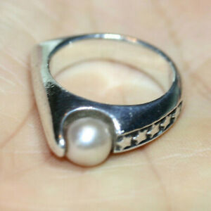 Glam-Designer-Women-039-s-925-Sterling-Silver-Fab-Pink-Freshwater-Pearl-Ring-Sz-7-75
