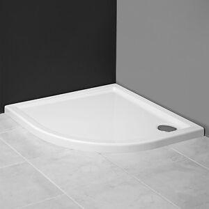 aquabad duschwanne duschtasse flach viertelkreis 80x80. Black Bedroom Furniture Sets. Home Design Ideas