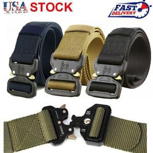 Men Adjustable Military Belt Buckle Combat Waistband Tactical Rescue Rigger