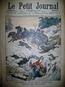 RUSSIE-KOVSOVSKA-LOUPS-TRAINEAU-SOUPE-POPULAIRE-A-PARIS-LE-PETIT-JOURNAL-1903