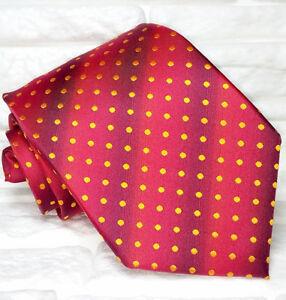 Cravate-de-luxe-pois-rouge-TOP-Quality-NOUVEAU-Made-in-Italy-soie-marque-TRE
