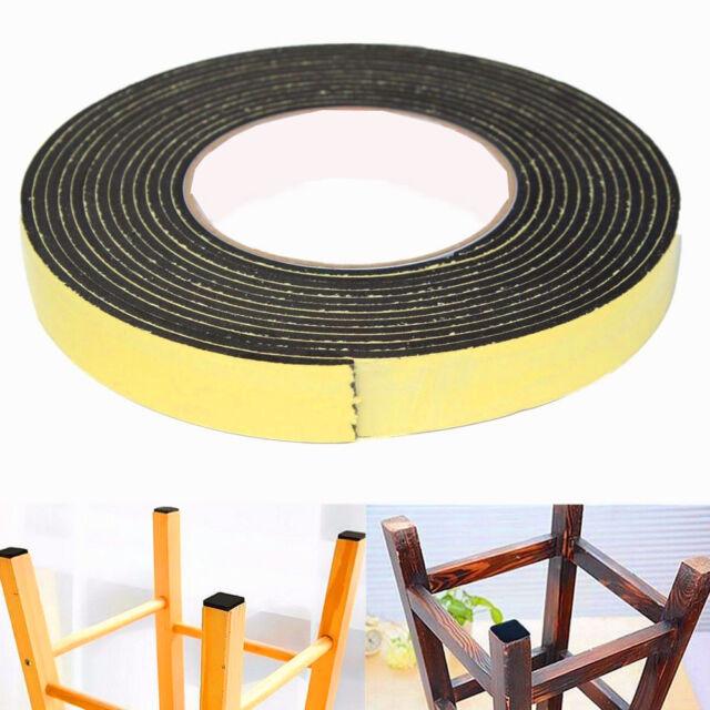 5M Black Single Sided Self Adhesive Foam Tape Sponge Rubber Strip Door Seal Tool  sc 1 st  eBay & 5m Black Single Sided Self Adhesive Foam Tape Sponge Rubber Strip ...