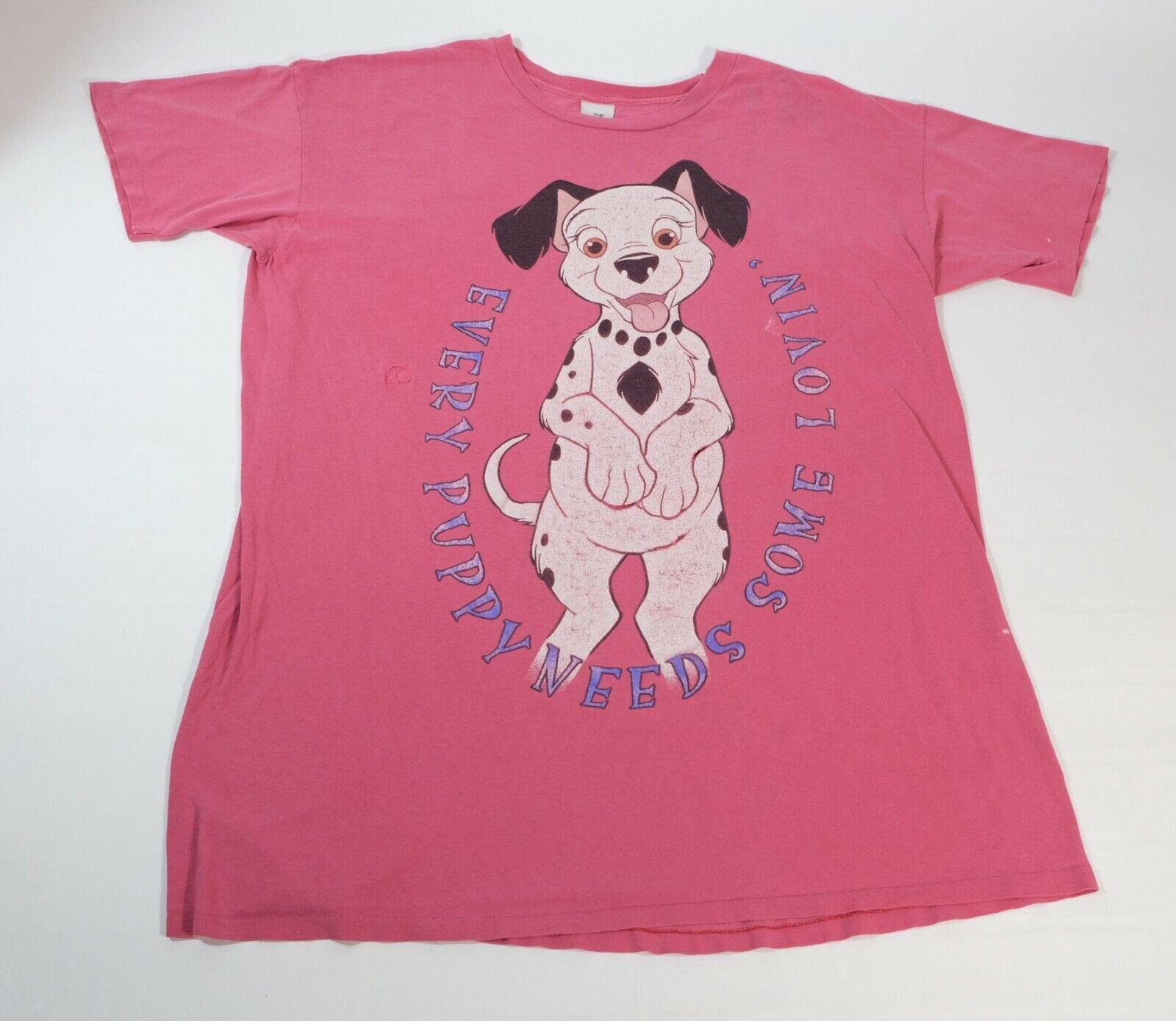 Vintage Disney Store Women's 101 Dalmatians Oversized Distressed T-Shirt 90s