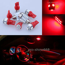 Map Dome LED Blub Interior Light Package 9X Red Kit For 05-2016 Scion tC PZ