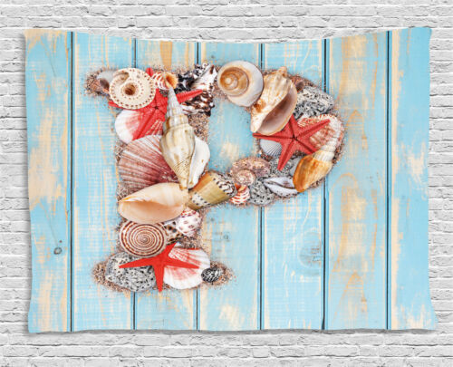 Seashell Letters Tapestry Wall Hanging Form Bedroom Dorm Room Decor 2 Sizes