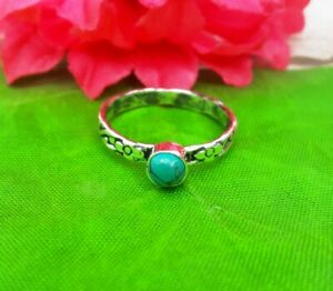 Turquoise-Ring-Solid-925-Sterling-Silver-Ring-Band-Ring-Handmade-Ring-All-Size