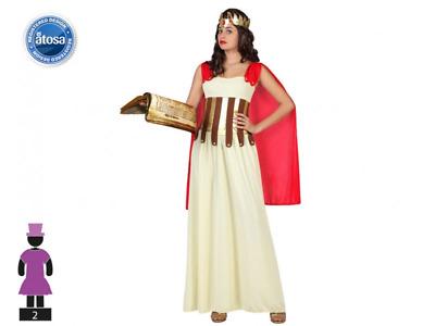 OLYMPIC Dea Costume Adulto DONNA ROMANA GRECA Toga Costume Vestito