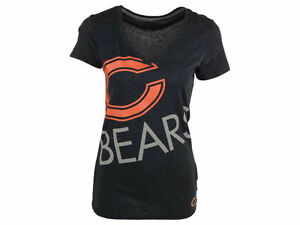 outlet store cf07f 99491 Details about Nike NFL Chicago Bears Tee Shirt Womens Upkilter Tri-Blend  V-Neck Top Blue S M L