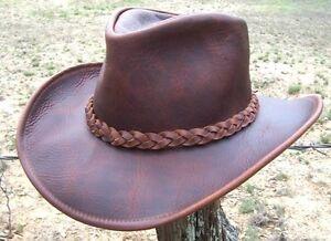 5c4d189312f NEW USA MADE Henschel Hats U-SHAPE-IT Leather Western Cowboy Hat ...