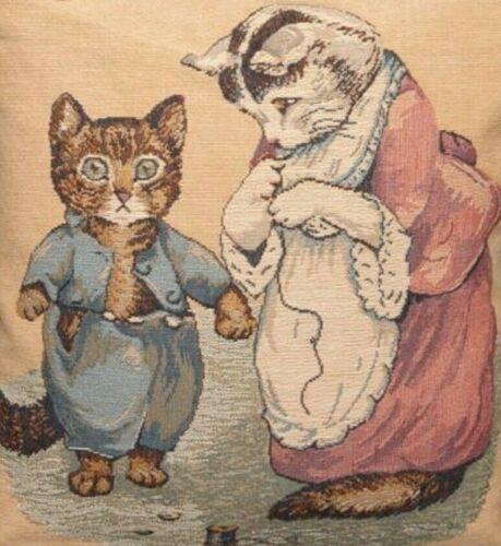 """NOUVEAU 14/"""" Beatrix Potter Chaton Boutons Belge Tapisserie Housse de coussin 889"""