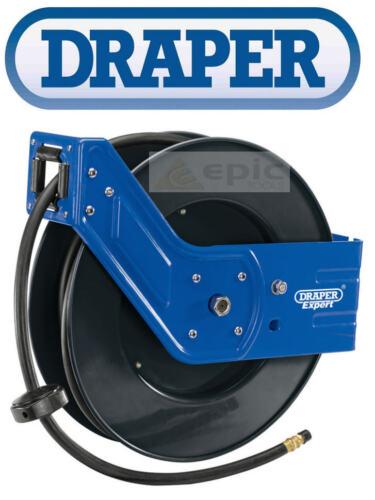 Draper 15m Retractable Wall Mounted Air Compressor Hose Reel 1/4 BSP 15050