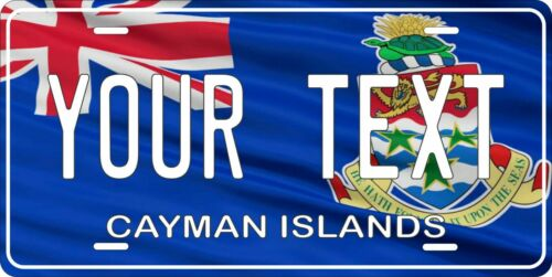 Details about  /Cayman Islands Flag License Plate Personalized Custom Auto Bike Motorcycle Tag