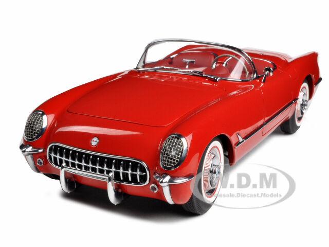 1954 Chevrolet Corvette Rojo 1 18 Diecast Model Coche By Autoart 71082