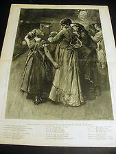 London Railway Station Emigrants DEPARTURE for LIVERPOOL 1876 Large Folio Print